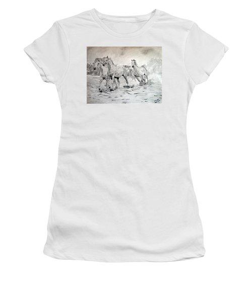 Arabian Horses Women's T-Shirt (Athletic Fit)