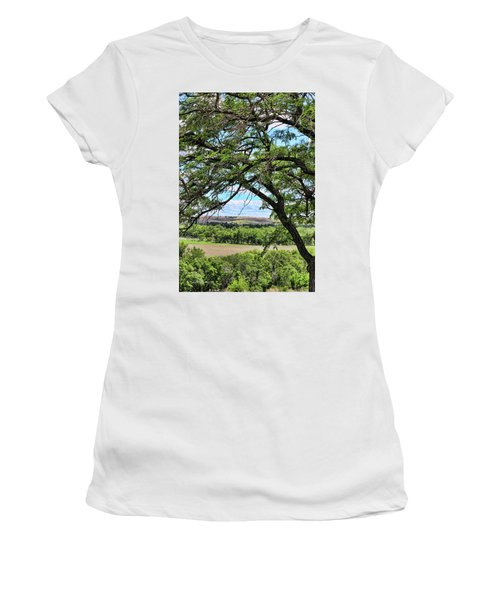Arbor Vista Women's T-Shirt (Junior Cut) by Sylvia Thornton