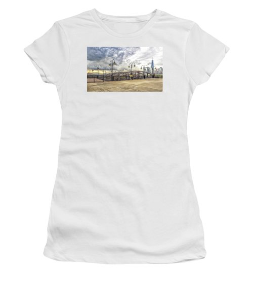 Arc To Freedom One Tower Image Art Women's T-Shirt (Athletic Fit)
