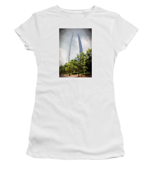 Women's T-Shirt (Junior Cut) featuring the photograph Arch And Clouds by John Freidenberg