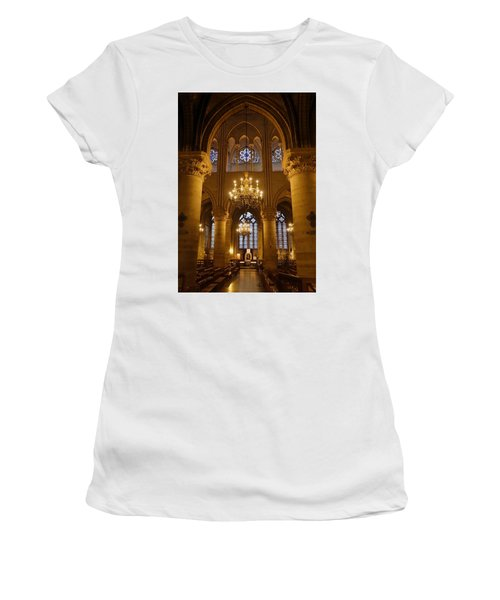 Architectural Artwork Within Notre Dame In Paris France Women's T-Shirt (Athletic Fit)
