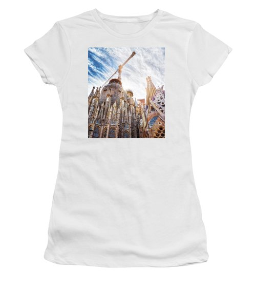 Architectural Details Of The Sagrada Familia In Barcelona Women's T-Shirt