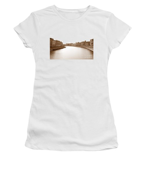 Arno River In Pisa Women's T-Shirt