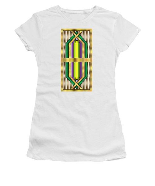 Art Deco 14 Vertical Women's T-Shirt (Athletic Fit)