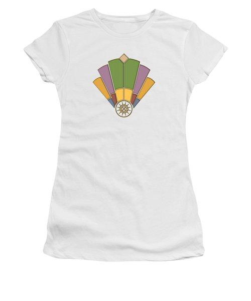 Art Deco Fan 2 Transparent Women's T-Shirt (Athletic Fit)