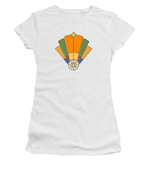 Art Deco Fan 8 Transparent Women's T-Shirt (Athletic Fit)