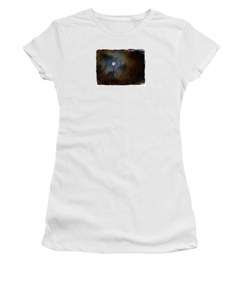 Artsy Moon Women's T-Shirt (Junior Cut) by Lila Fisher-Wenzel