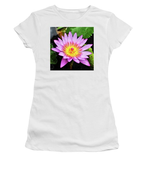 Women's T-Shirt (Athletic Fit) featuring the photograph Water Lily by Denise Bird