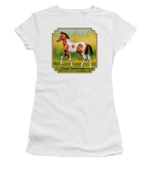 Bay Pinto Foal Women's T-Shirt