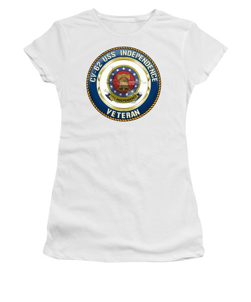 Cv-62 Uss Independence  Women's T-Shirt (Athletic Fit)