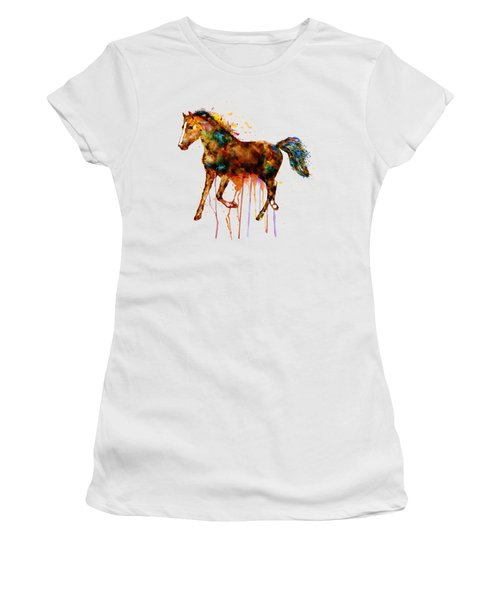 Watercolor Horse Women's T-Shirt (Athletic Fit)