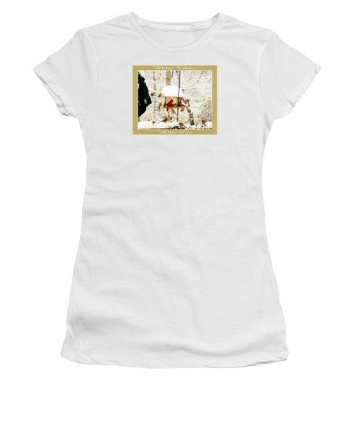 Winter Holiday Women's T-Shirt (Junior Cut) by Anita Faye