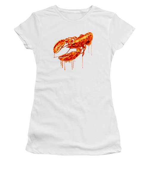 Crayfish Watercolor Painting Women's T-Shirt (Athletic Fit)