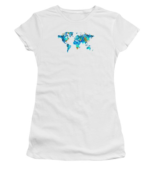 World Map 22 Art By Sharon Cummings Women's T-Shirt