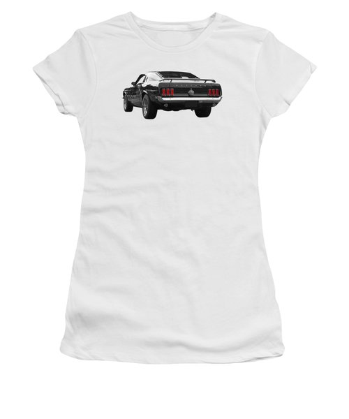 Rear Of The Year - '69 Mustang Women's T-Shirt (Athletic Fit)