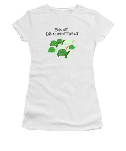 Herd Of Turtles Pattern Women's T-Shirt (Athletic Fit)