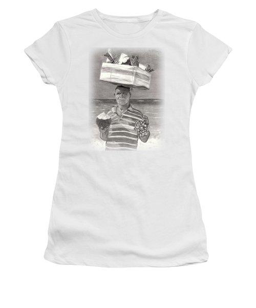 Island Street Vendor Women's T-Shirt (Junior Cut) by Tom Podsednik