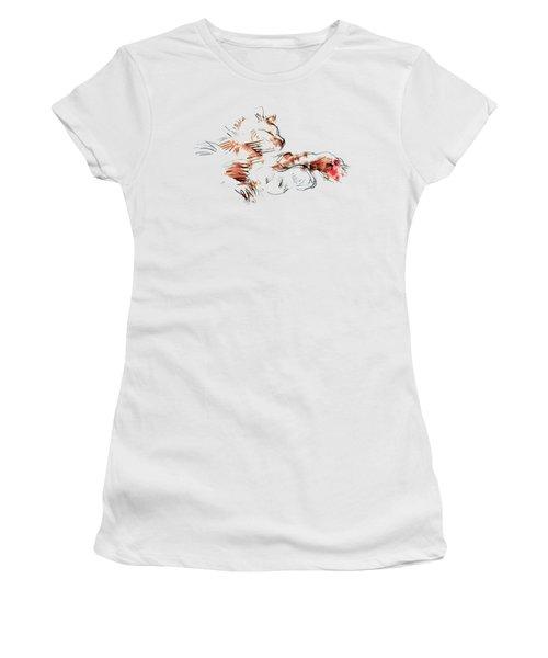 Merph Chillin' - Pet Portrait Women's T-Shirt (Junior Cut) by Carolyn Weltman