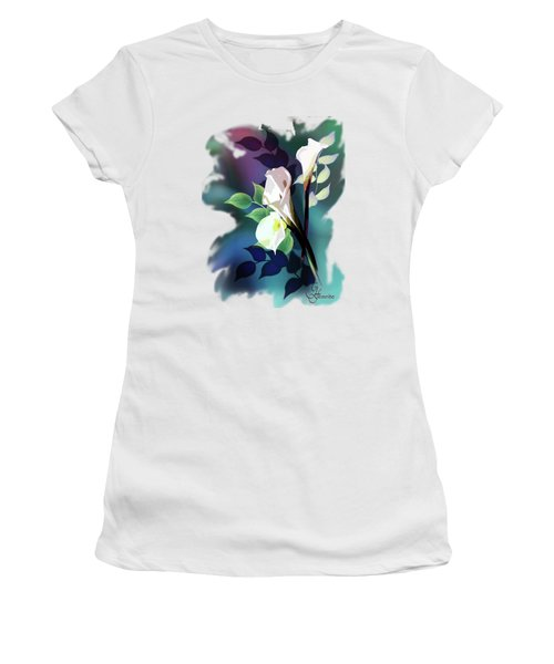 Bouquet In White Women's T-Shirt (Athletic Fit)