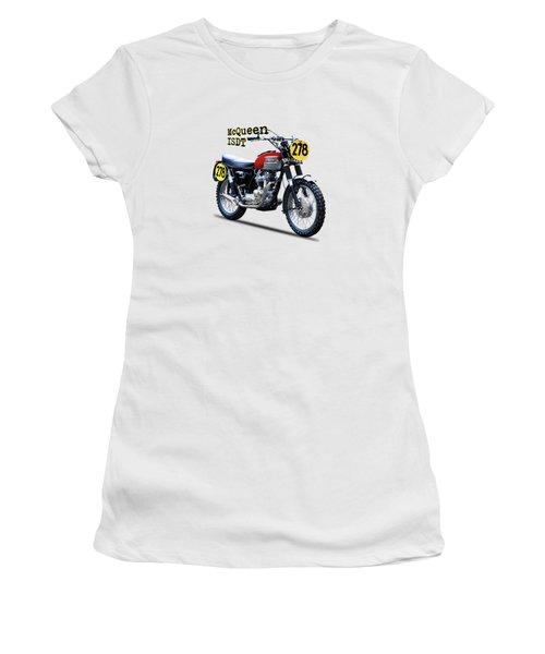 The Steve Mcqueen Isdt Motorcycle 1964 Women's T-Shirt