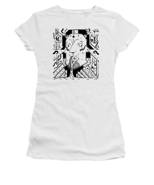 Surrealism Oil Pump Women's T-Shirt (Athletic Fit)
