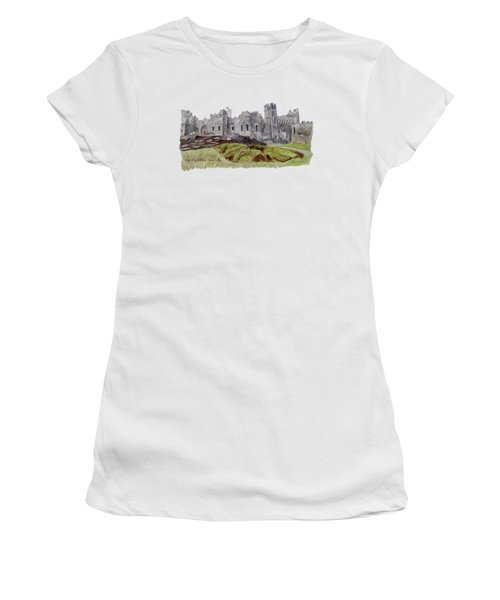 Castle Ward Women's T-Shirt (Junior Cut) by Angeles M Pomata