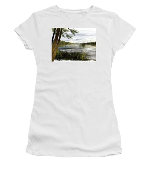 Quiet Day By Lake Women's T-Shirt