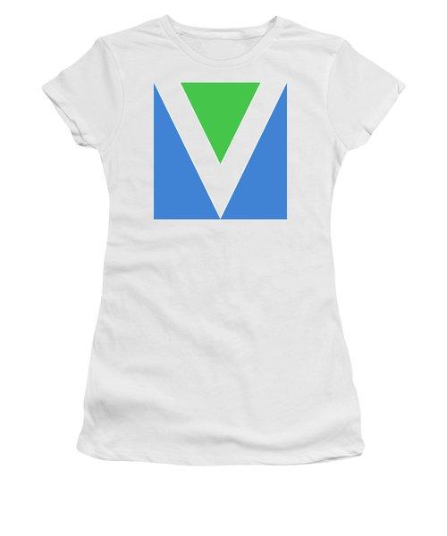 Official Vegan Flag Women's T-Shirt (Athletic Fit)