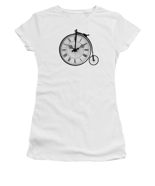 Time To Ride Penny Farthing Women's T-Shirt (Athletic Fit)