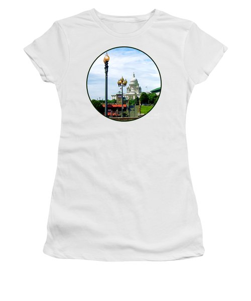 Capitol Building Seen From Waterplace Park Women's T-Shirt (Junior Cut) by Susan Savad