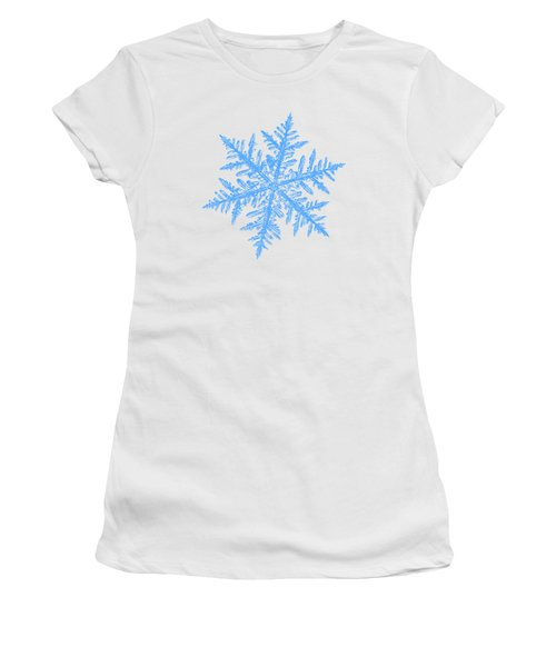 Snowflake Vector - Silverware White Women's T-Shirt (Athletic Fit)