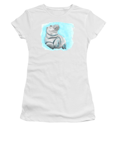 Baby Hippo Underwater Fantasia Ballet Women's T-Shirt (Athletic Fit)