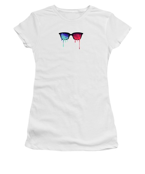 3d Psychedelic / Goa Meditation Glasses Women's T-Shirt (Athletic Fit)