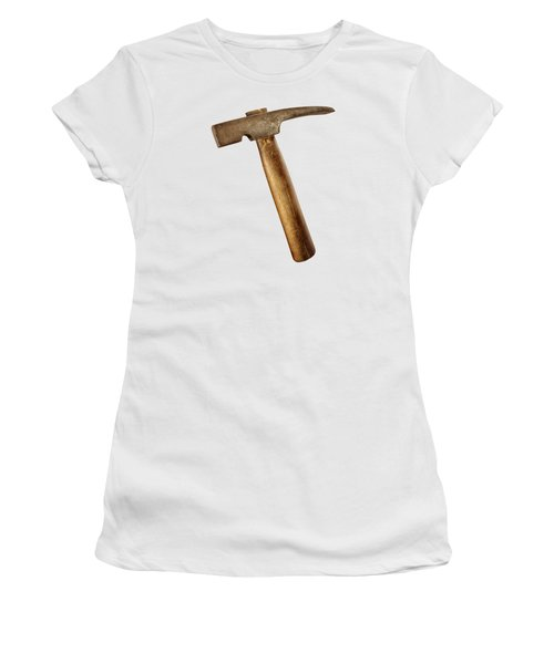 Antique Plumb Masonry Hammer On Color Paper Women's T-Shirt