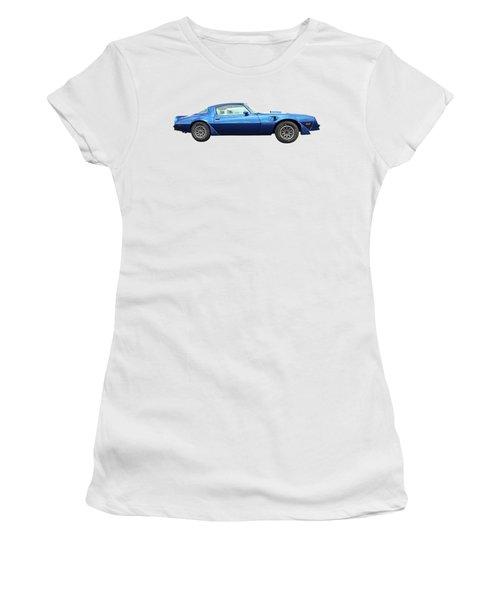 Blue Pontiac Trans Am 1978 Women's T-Shirt