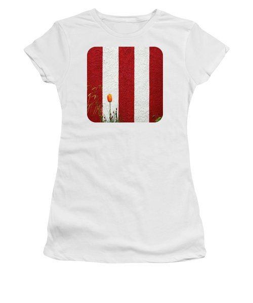 Women's T-Shirt (Junior Cut) featuring the photograph Temple Wall by Ethna Gillespie