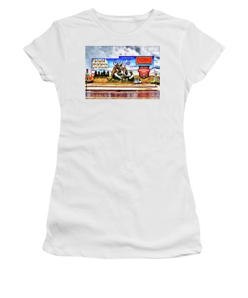 Large North Platte Wall Mural Women's T-Shirt (Junior Cut) by Bill Kesler