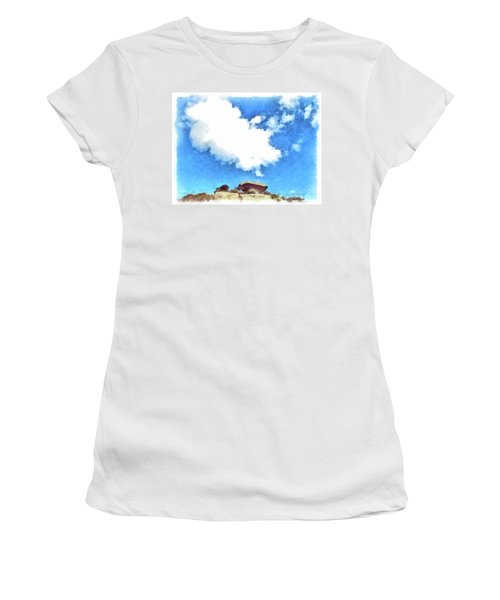 Arzachena Mushroom Rock With Cloud Women's T-Shirt (Athletic Fit)