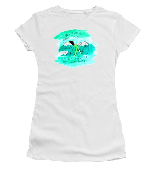Asleep In The Mountains Women's T-Shirt (Junior Cut) by Lucy Frost