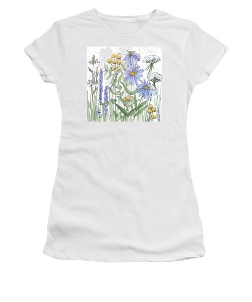 Asters And Wildflowers Women's T-Shirt