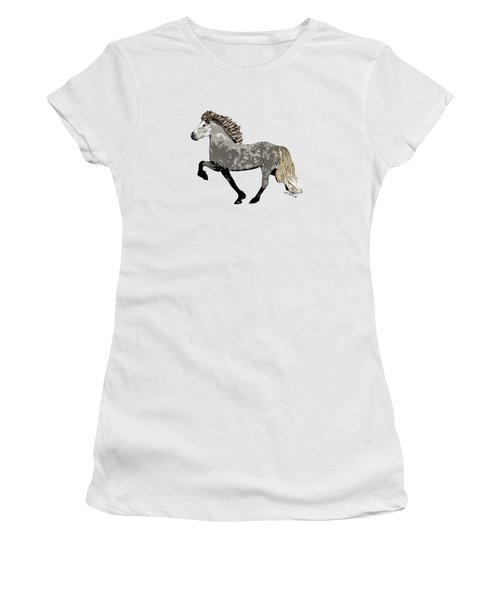Women's T-Shirt (Junior Cut) featuring the painting Astrid by Shari Nees
