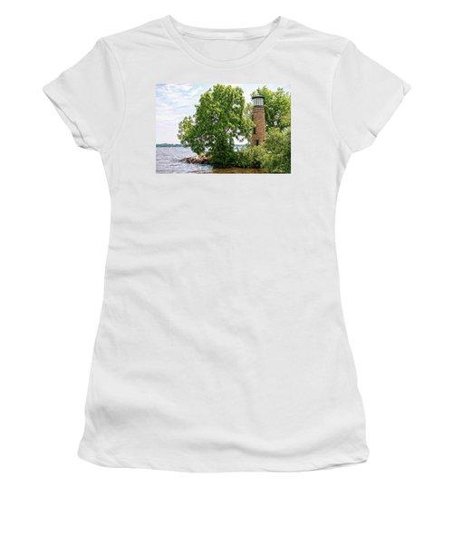 Asylum Point Lighthouse 1 Women's T-Shirt (Junior Cut) by Trey Foerster