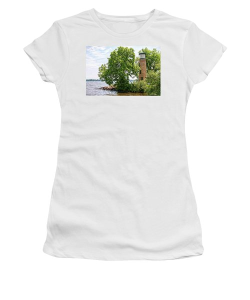 Asylum Point Lighthouse 1 Women's T-Shirt (Athletic Fit)