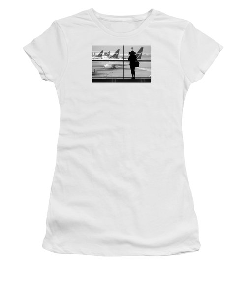 At The Gate Women's T-Shirt (Junior Cut) by Valentino Visentini