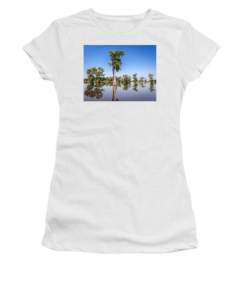 Atchafalaya Cypress Tree Women's T-Shirt (Athletic Fit)