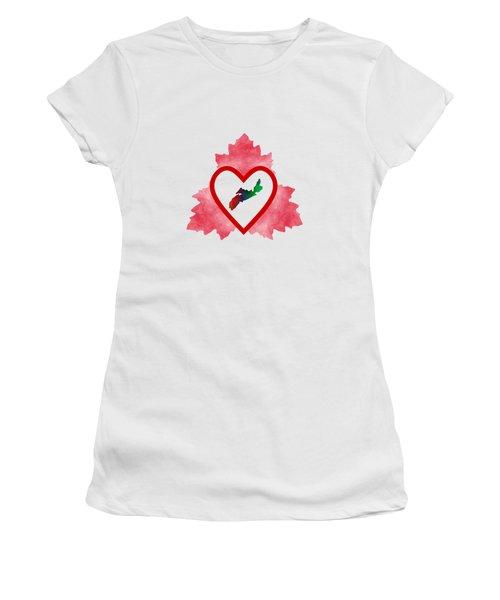 Atlantic Canada Women's T-Shirt (Junior Cut) by Kathleen Sartoris