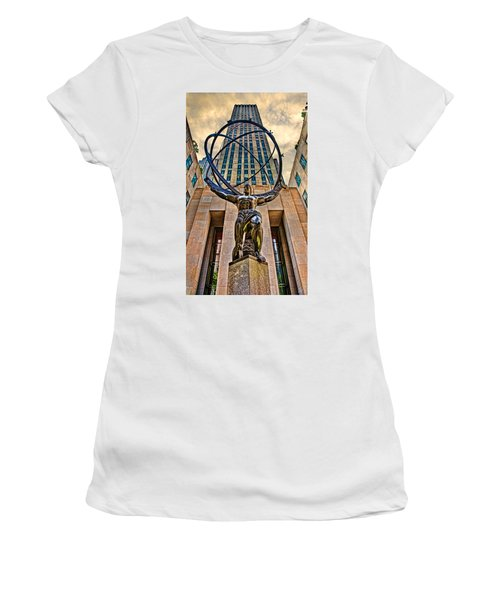 Atlas At The Rock Women's T-Shirt (Athletic Fit)