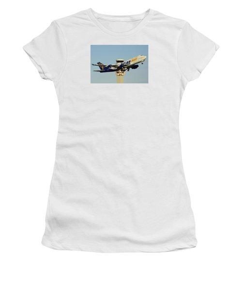 Atlas Boeing 747-446 N465mc Phoenix Sky Harbor January 3 2015 Women's T-Shirt (Junior Cut) by Brian Lockett