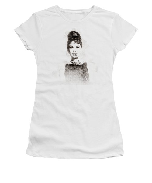 Audrey Hepburn Portrait 01 Women's T-Shirt (Athletic Fit)