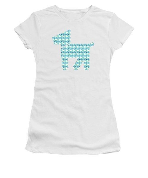 Aussie Dog Pattern Women's T-Shirt